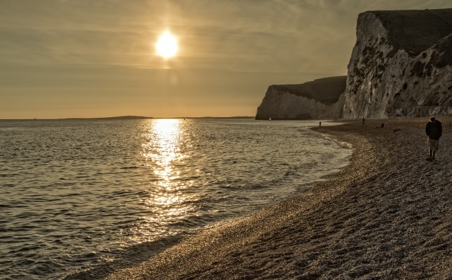 View along the beach from Durdle Door