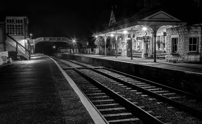 Deserted Corfe Castle station