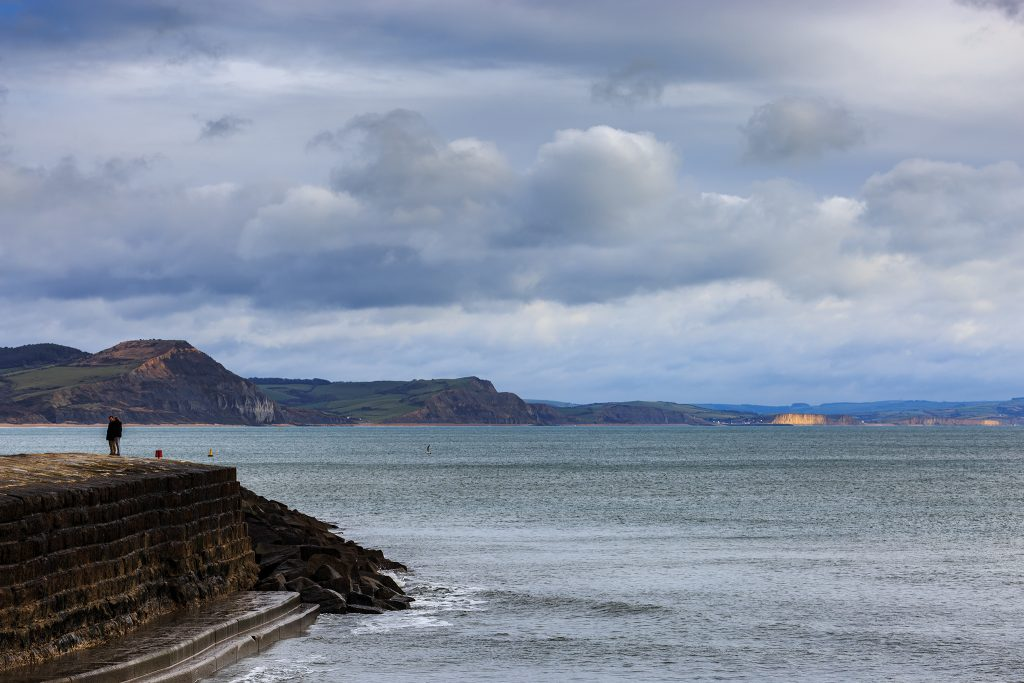 Cliffs at West Bay in sunlight