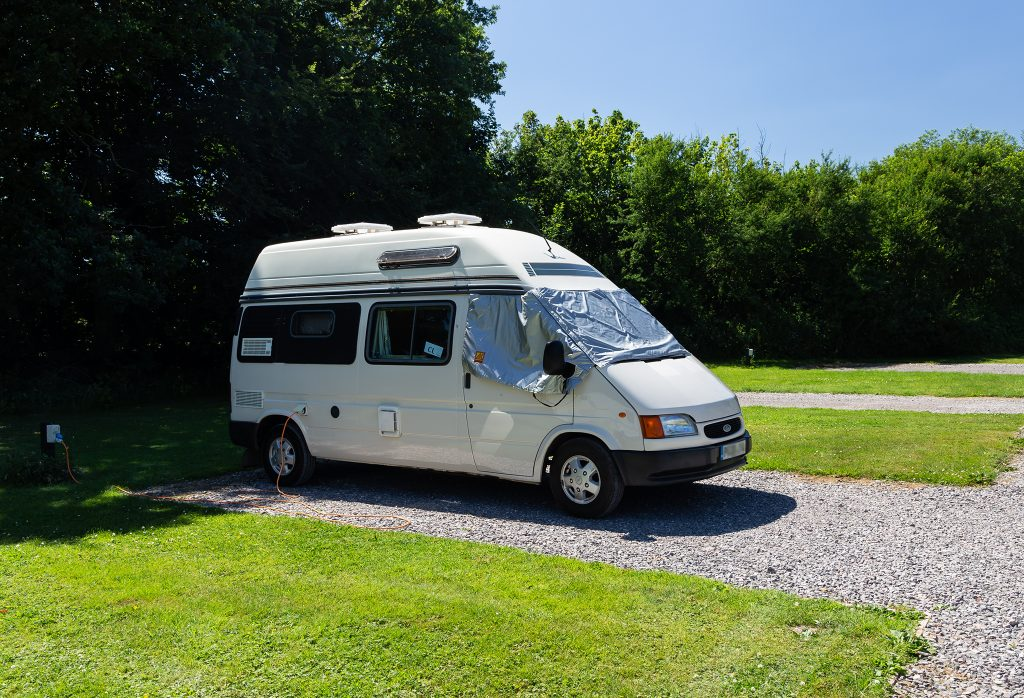 Our van parked in the Stourhead CL.