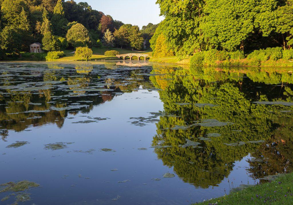 Evening reflections Stourhead