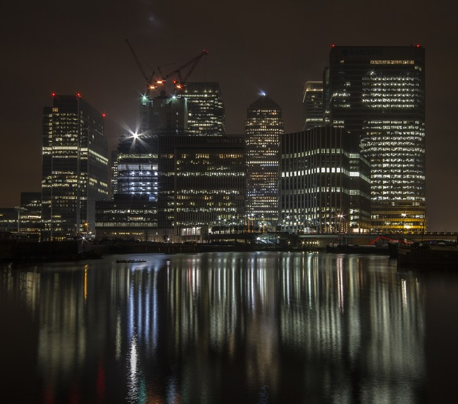 Canary Wharf at 3.00am