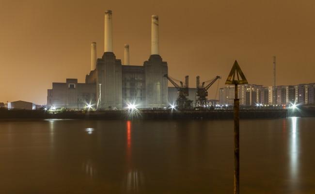 Battersea Power station near dawn
