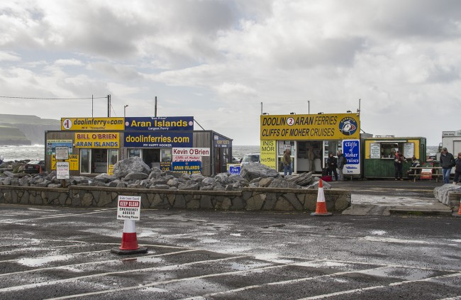 Ferry terminal at Doolin!