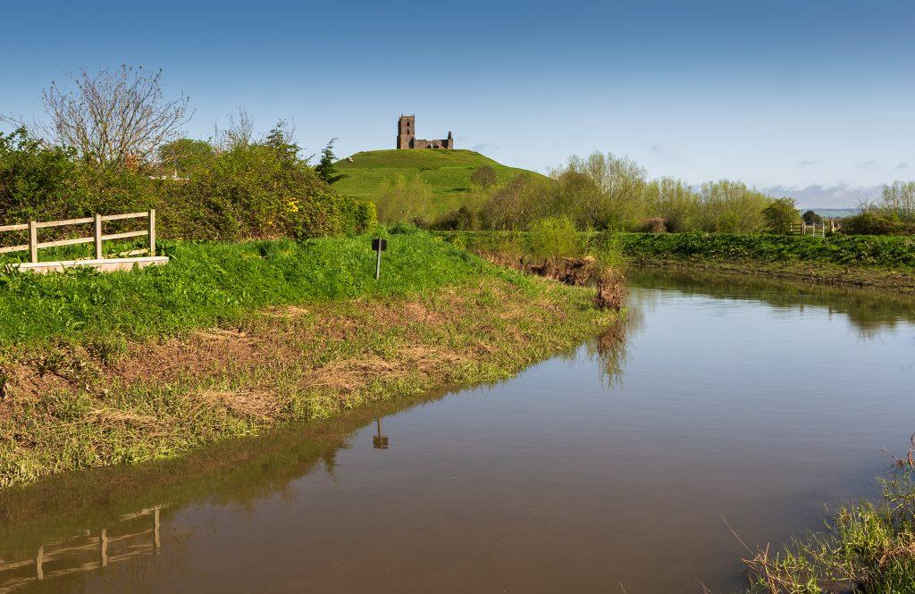 Burrow Mump and River Parrett