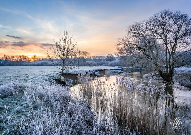 Frosty sunrise, Shillingstone