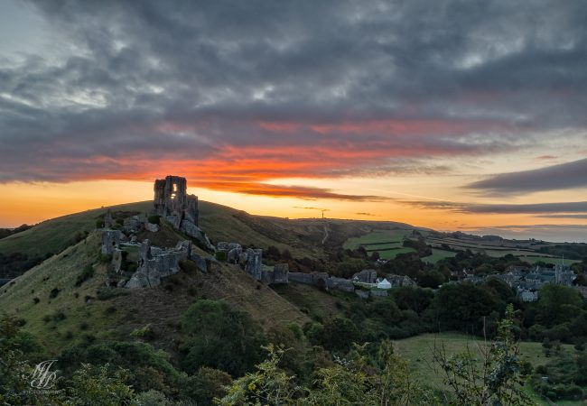 Before Dawn Corfe Castle