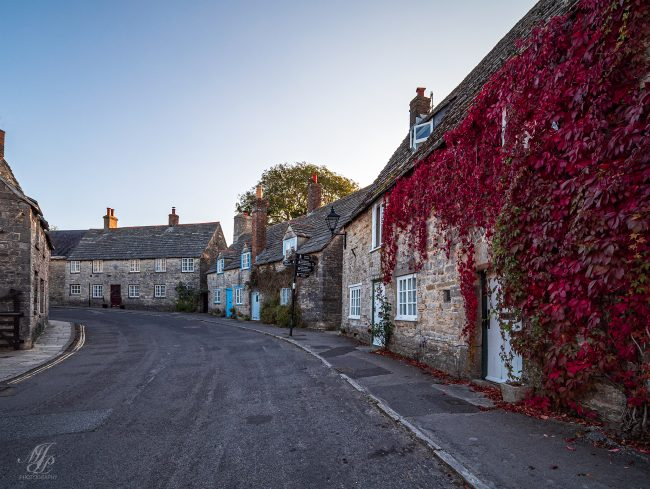 Quiet street in Corfe village -