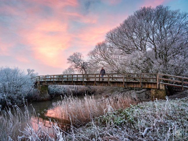 Footbridge to Bere Marsh, River Stour